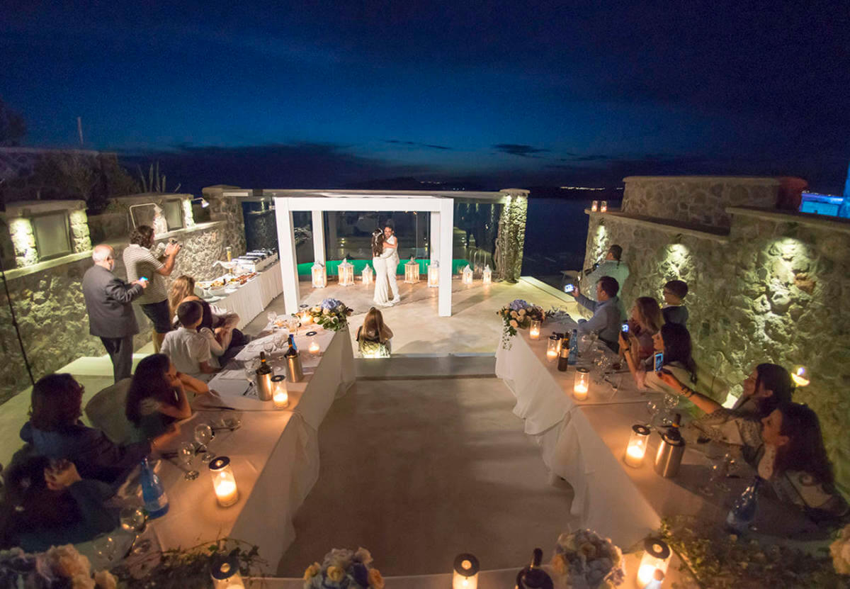 Lebanese wedding santorini Greece photographer