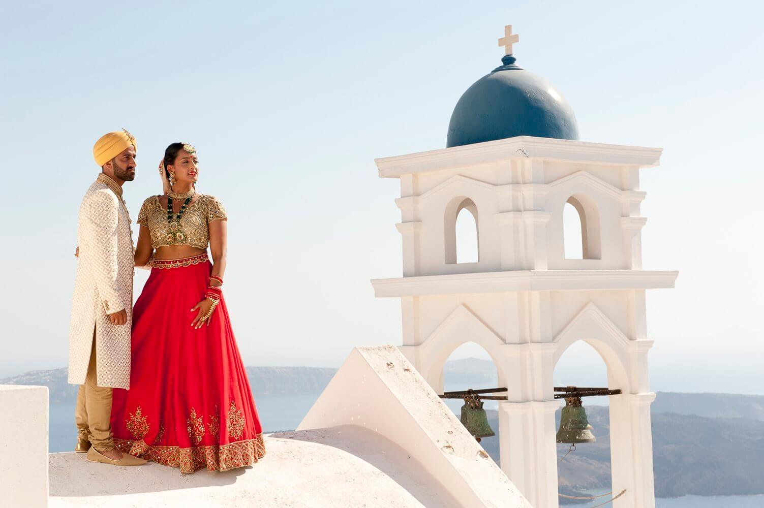 Santorini Indian wedding