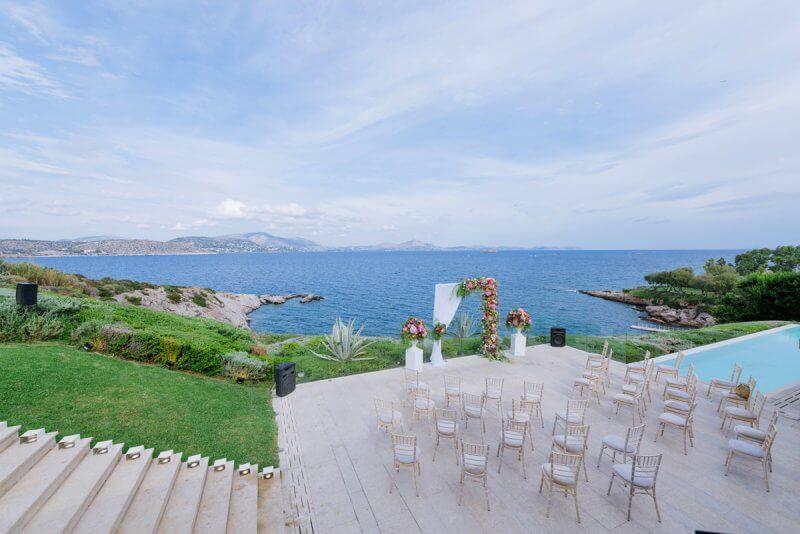 wedding ceremony lasdscape image