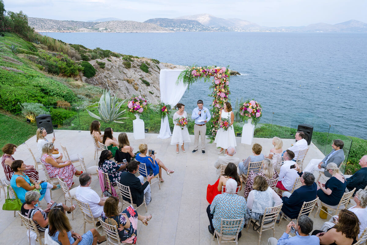 landscape image from a lesbian wedding