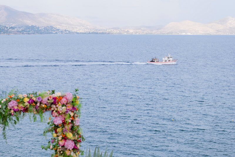 wedding decoration at Athenian Riviera, Greece