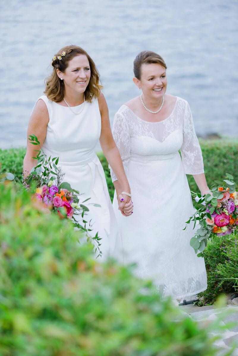 samesex couple walking
