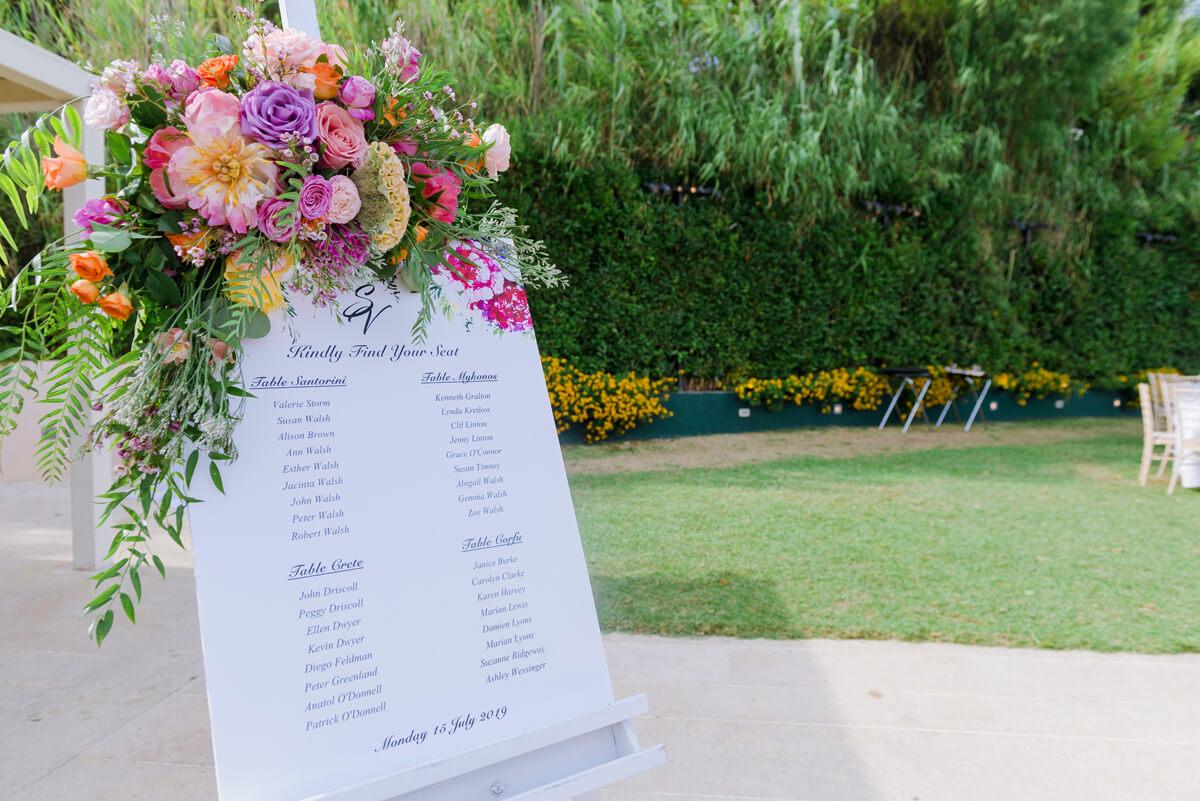 gay wedding seating plan