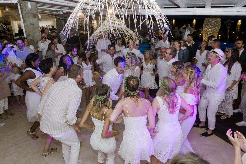 wedding party Mykonos Greece