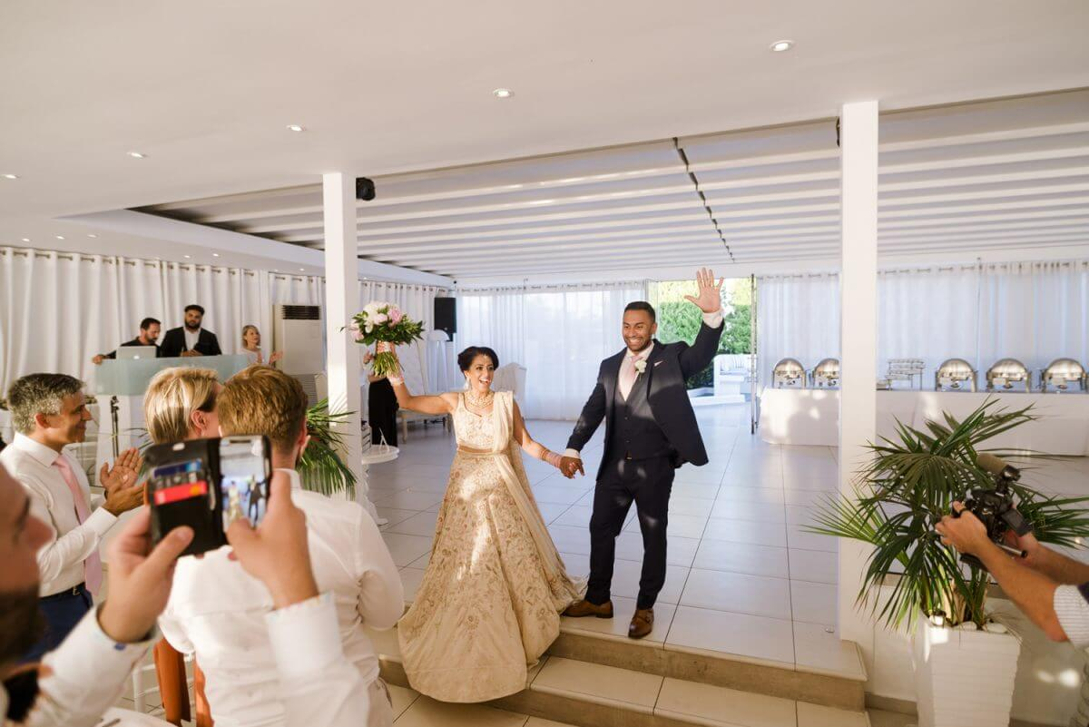 couple's wedding entrance