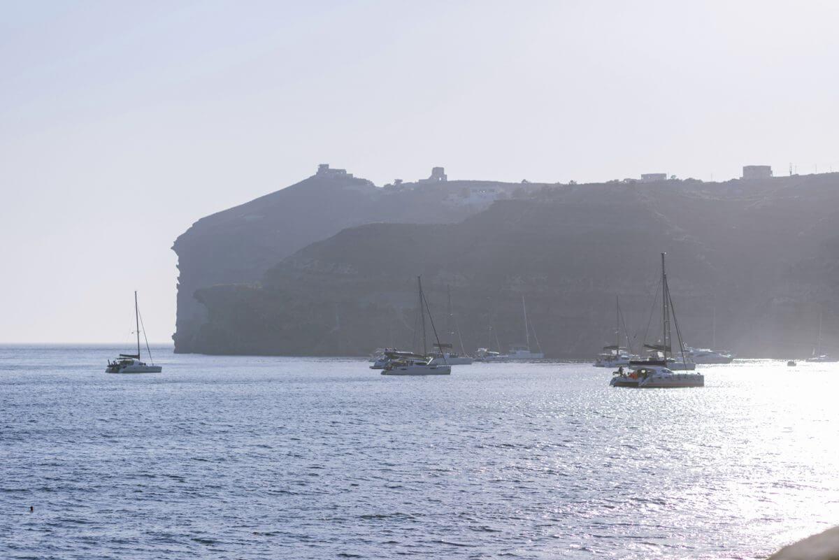 boats at Santorini
