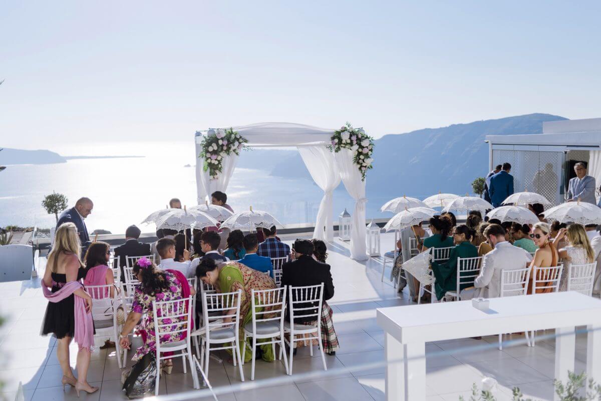 wedding venue at Santorini Greece