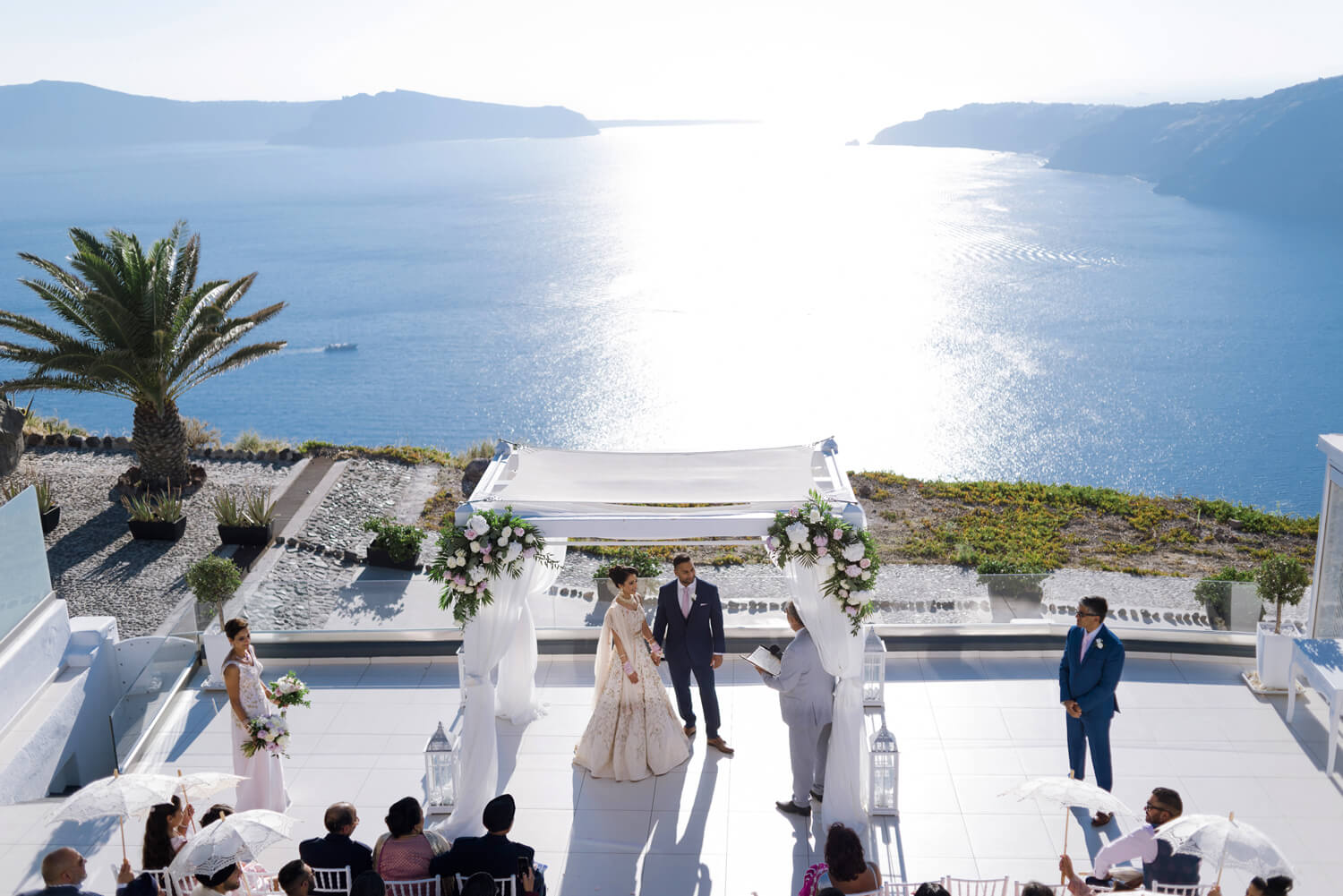 A divine Indian wedding in Santorini
