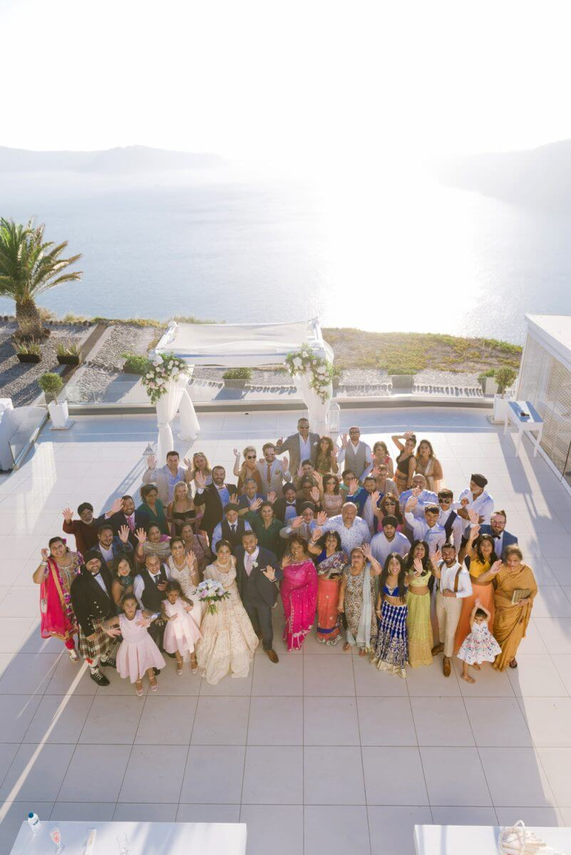 family photo at Santorini Greece